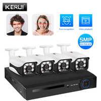 KERUI HD 5MP 4CH NVR bezprzewodowa kamera CCTV zewnętrzna wodoodporna kamera IP WIFI bezpieczeństwo w domu nadzór alarm wykrywający ruch zestaw monitoringu NVR