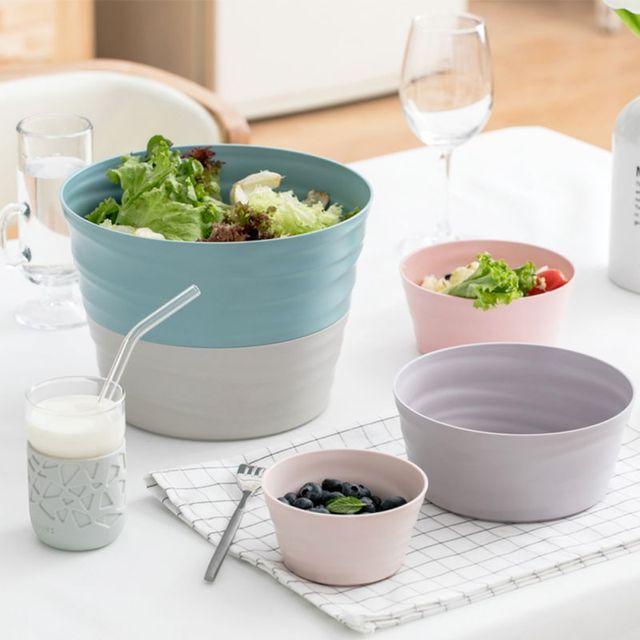 Ousehold Салатница Меланжевая 5 шт меламиновая чаша набор для фруктов, овощей, салатников небьющиеся и многоцветные хрустальные