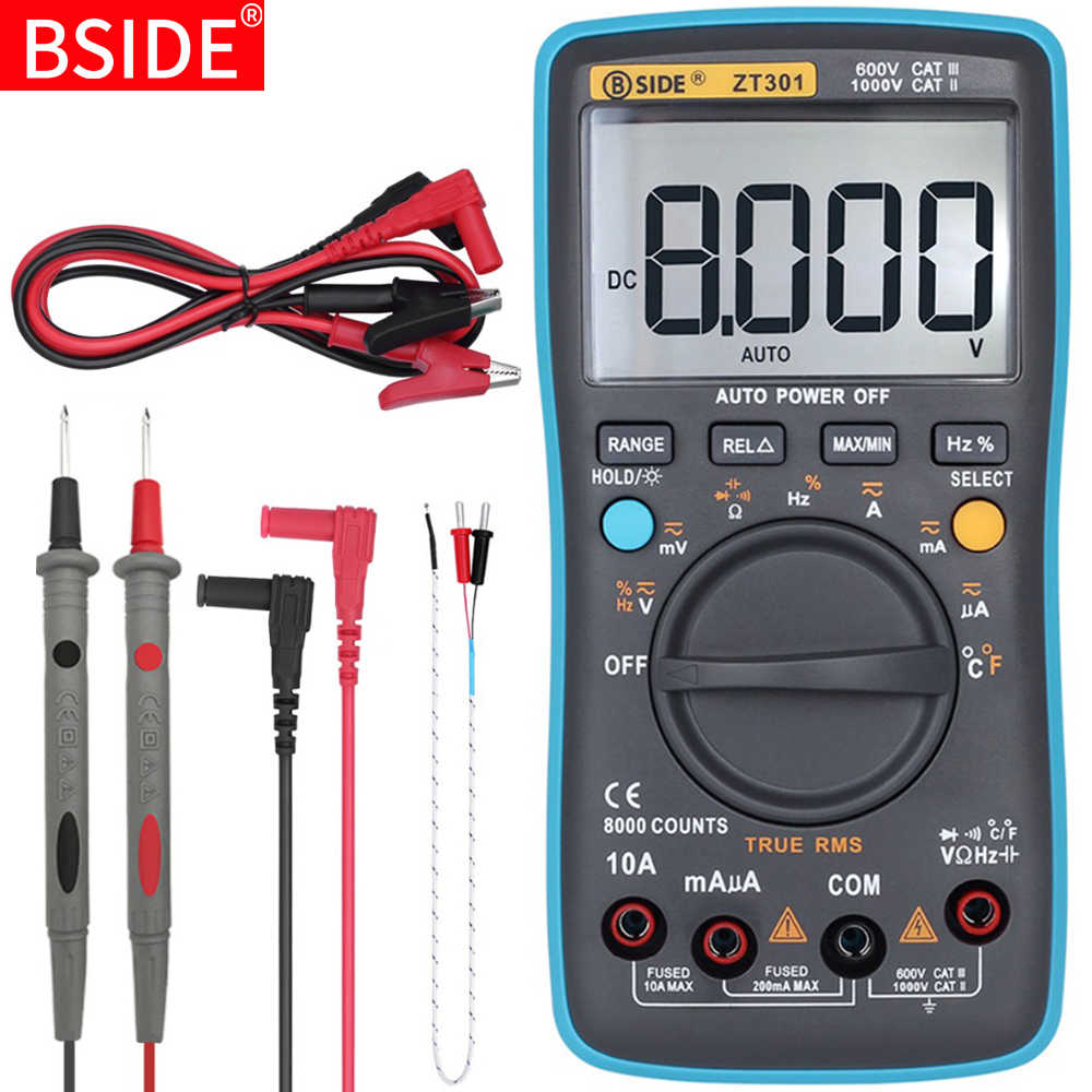 Digitale Multimeter Bside Zt Series True Rms Auto Range Multimetro Voltmeter Ampèremeter Capaciteit Temperatuur Ohm Hz Ncv Tester