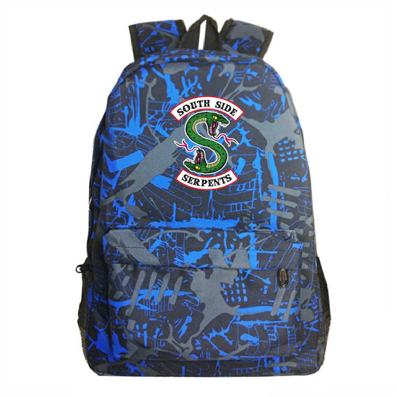 Sac a Dos Rucksack Mochila South Side Serpents Anime Riverdale Backpack Travel 3zl Laptop Men Unisex Book Bag Plecak Schoolbag