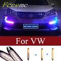 2 stücke Auto Led Licht DRL Tagfahrlicht Lampe Streifen Für VW T5 Passat B5 B6 B8 Golf 4 6 7 MK4 MK3 Jetta MK6 Scirocco Caddy Polo 9N
