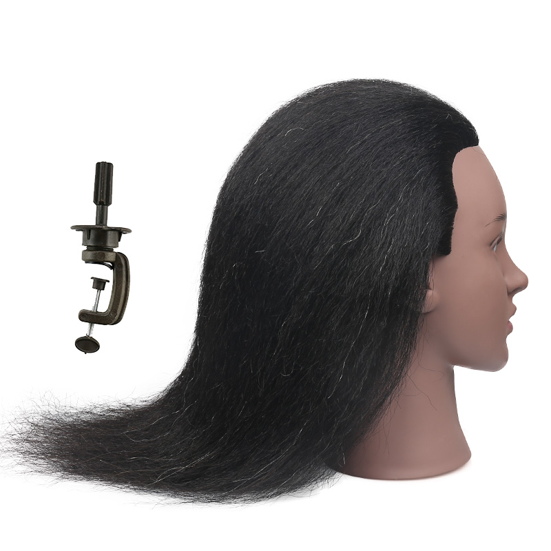 Black Mannequin Head Dolls For Hairstyles Training Head Hair Mannequin For Braiding Real Hair Mannequin Head With Stand Mannequins Aliexpress