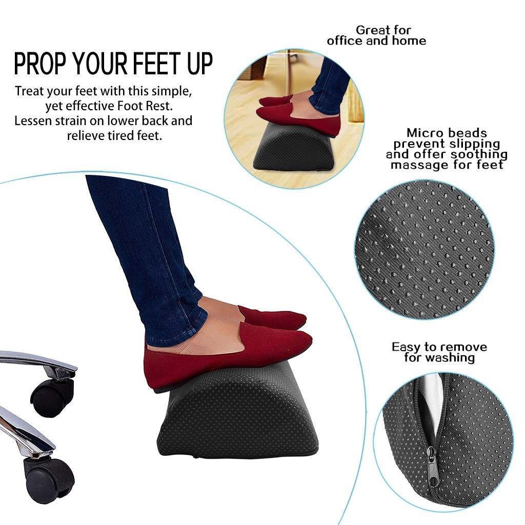 Foot Rest Foot Stool Under Desk To Relieve Leg Pain With Anti Slip Cover Footstool Nordic Round Pouffe Stool Bedroom Furniture Foot Care Tool Aliexpress
