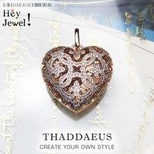 Colgante corazón amoroso medallón, 2020 moda Glam 925 Plata de Ley joyería estilo europeo collar accesorios regalo para Soul Mujer