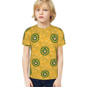 2021 New t shirt Anime Four Leaf Clover T-shirt Short Sleeve St. Patrick's Day Kids Boys Girls Casual Tops Tees Toddler 1