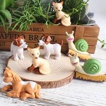 Sevimli köpek kedi at salyangoz moss mikro peyzaj bebek dekorasyon öğrenci kişilik ev aksesuarları masaüstü modeli doğum günü hediyesi