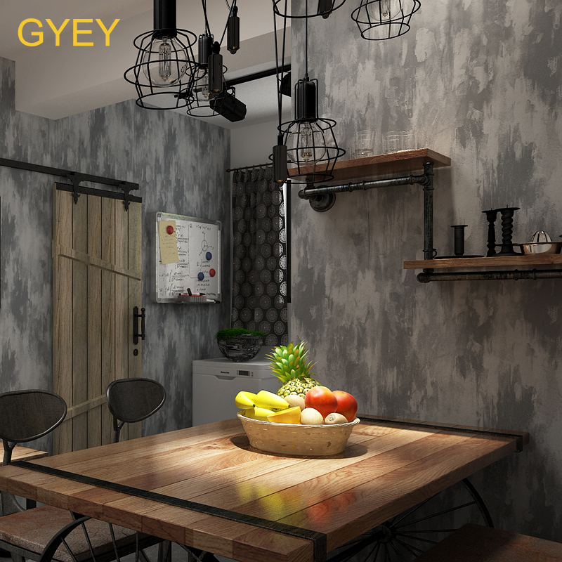 10M Retro Nostalgic Cement Gray Vegan Industrial Wind Wallpaper Tea Shop Restaurant Bar Restaurant Clothing Store Wallpaper in Wallpapers from Home Improvement