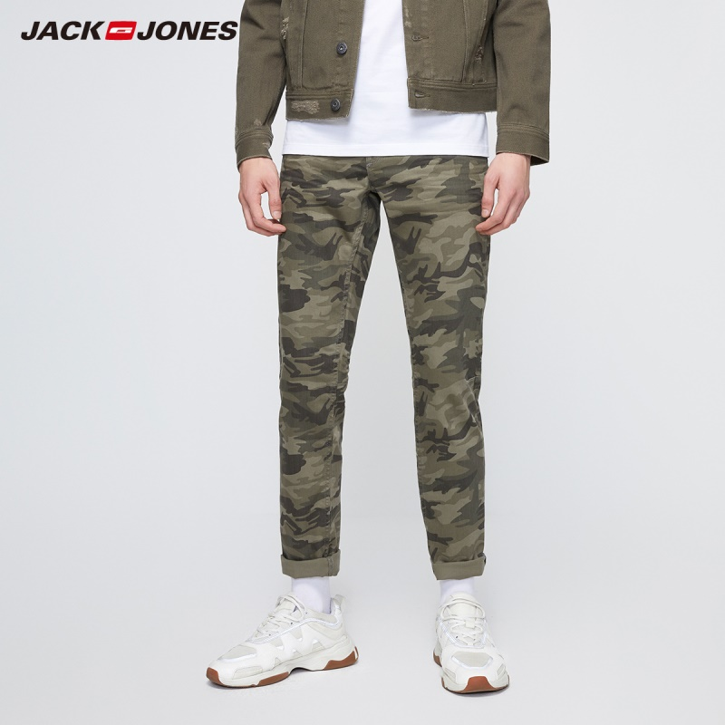JackJones Men's New Arrival Camouflage Cargo Regular Slim fit Streetwear Jeans Menswear| 219332536