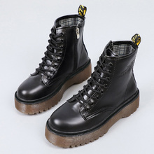 2020 Leather Boots For Martin Boots Platform Shoes Women