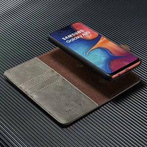 Image 5 - 2 en 1 Couverture Pour Samsung Galaxy A10 A20 A30 A40 A50 A70 A30S A50S étui en cuir véritable Détachable Flip Portefeuille Peau Livre A51 A71 Sac