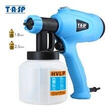 TASP 전기 스프레이 건 400W HVLP 페인트 분무기 압축기 흐름 제어 에어 브러시 전동 공구 Easy Spray & Clean 120V/230V