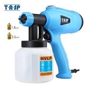 Image 1 - TASP pulvérisateur électrique de peinture avec compresseur 400W HVLP, contrôle du flux, aérographe, outils électriques, pulvérisation et nettoyage faciles, 120V/230V