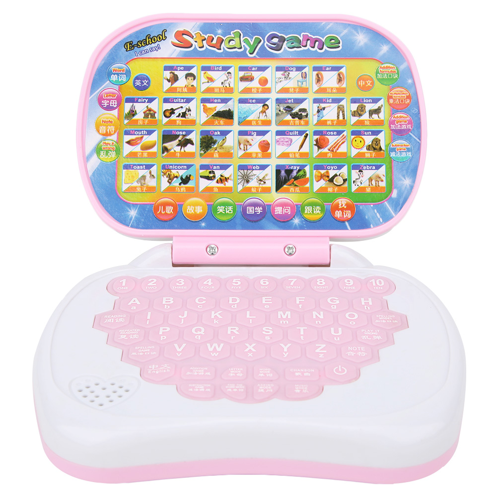 New Baby Kids Pre School Educational Learning Study Toy Laptop Computer Game Educational Toy Send in Random image