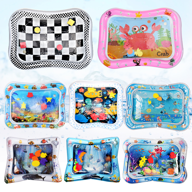 Baby Inflatable Water Play Mat Infant Summer Beach Water Mat Toddler Fun Activity Play Toys For Sensory Stimulation Motor Skills
