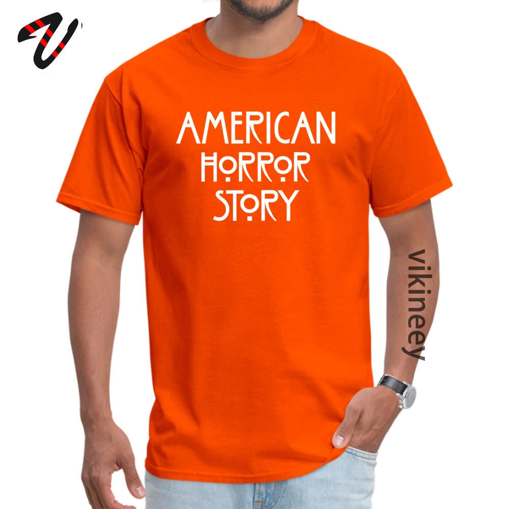 American Horror Story Logo artworknegru  Black T Shirts High Quality Summer 100% Cotton Crew Neck Mens Tops Tees Tops Shirt