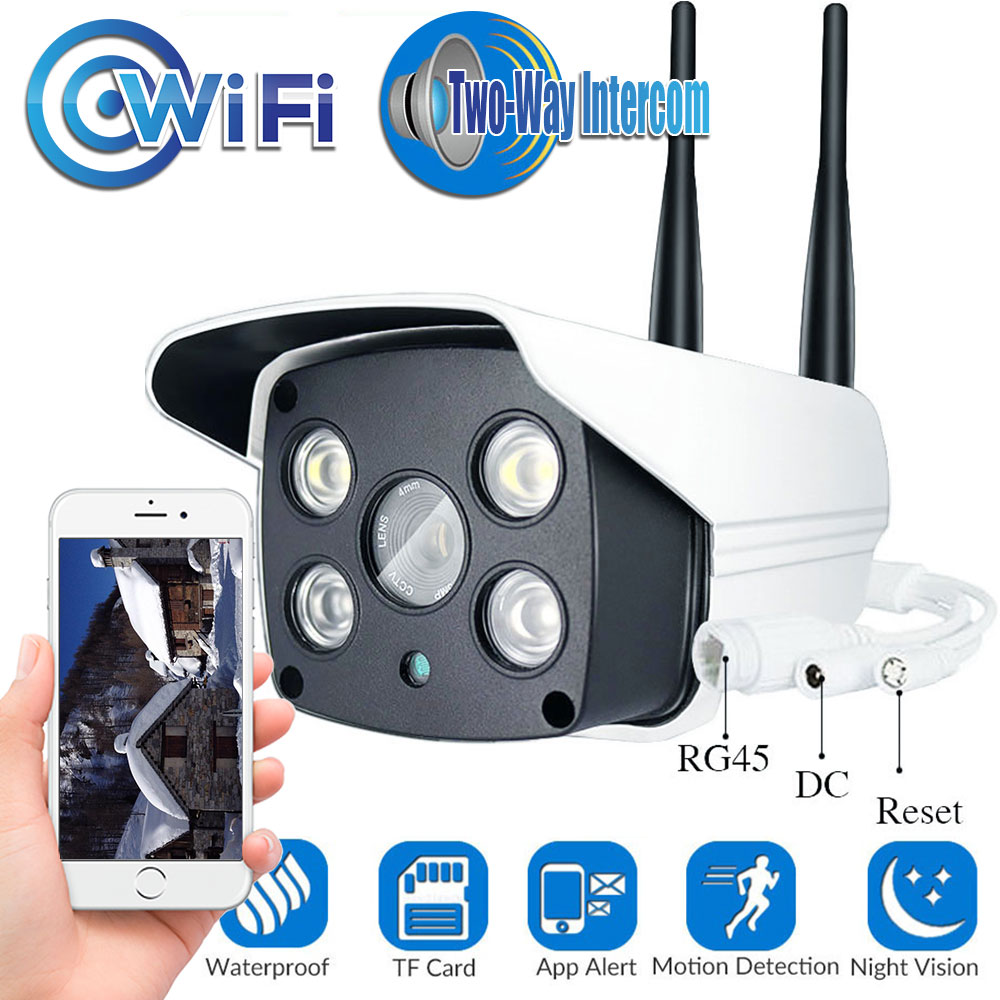 1080P 720P Outdoor Wifi IP Camera Color Night Vision for Motion Detection Surveillance Bullet CCTV Camera Two Way Audio