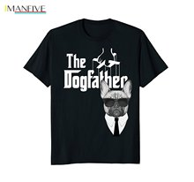 2019 New Summer High Quality Tee Shirt The Dogfather French Bulldog T Shirt Frenchie Dog Tee Cool T Shirt new men shirt american staffordshire terrier amstaff the dogfather t shirt