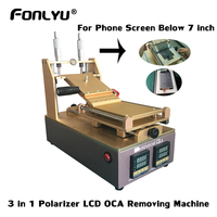 7 Inch Polarizer OCA Removing LCD Screen Glass Separating Glue Remover Preheating Machine For Phone Front Glass Refurbish Repair