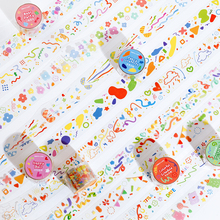 Sticker Pet-Tape 10pcs/Lot Paper Ink DIY Party-Series Wonderful White