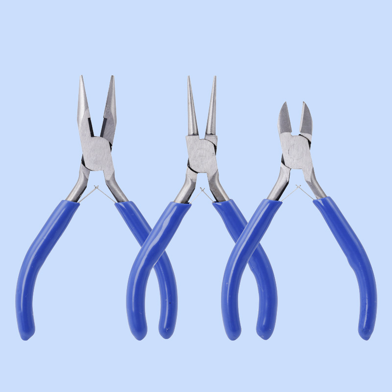 Wholesale Jewelry Pliers Tools Pliers Jewelry Making Pliers 45 Steel Bule Diagonal Pliers Without Teeth Ring