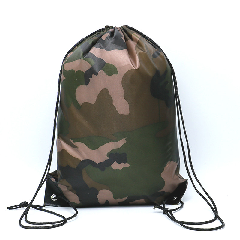 Camouflage Backpack Drawstring Gym Bag Travel Sport Outdoor Bag Lightweight Camping Hiking Outdoor Bags