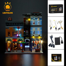 цены Led Light Building Blocks For 10246 Creator City Street Detective's Office Model Lepin 15011 Compatible with Lego Building Toy