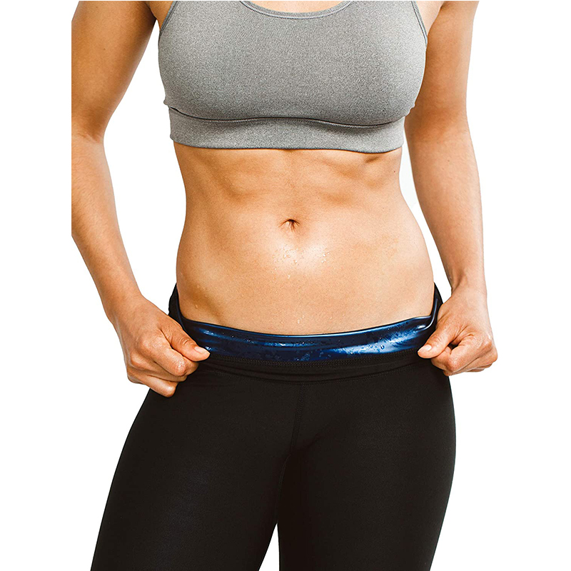 Men Women Sweat Shaper Fitness Slims High Waist Sauna Workout Sport Pants Body Shaper Thermo Sweat Sauna Effect Capris Mid-Calf