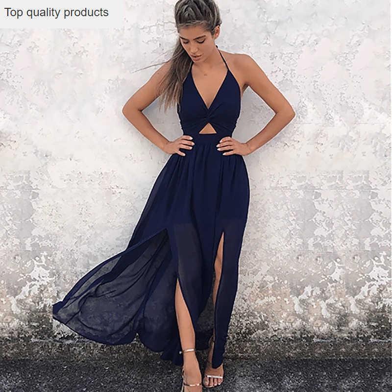 2020 Nuovo Vestito Da Estate di Grandi Dimensioni Slim Sexy Scollo A V Senza Maniche Stampa Morbido Fionda Moda casual Temperamento Delle Donne Vestito Lungo CW732