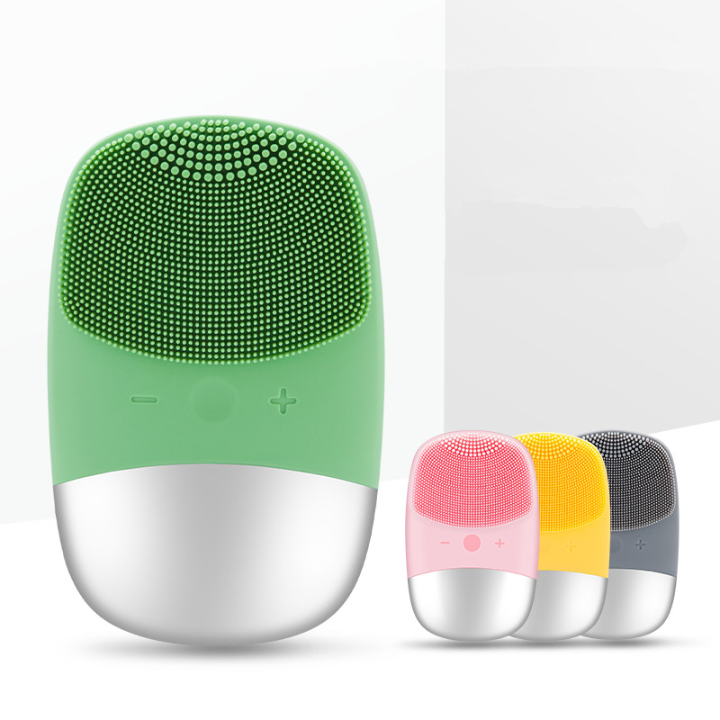 Mini USB Electric Face Facial Cleansing Brush Foreoing Silicone Sonic Cleaner Deep Pore Cleaning Waterproof Skin Massage