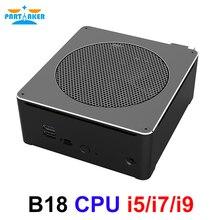 كمبيوتر ألعاب عالي الجودة i9 8950HK i5 8300H i7 8750H 6 Core 12 المواضيع 64GB DDR4 Nvme M.2 Nuc كمبيوتر مصغر Win10 برو التيار المتناوب واي فاي