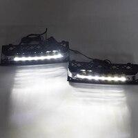 Car 12V Daytime Running Lights DRL LED Fog Lamp for BMW 7 Series F01 F02 730I/740I/750I/760I 2009 2012