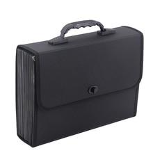 26 레이어 포켓 확장 파일 폴더 주최자 서류 가방 방수 비즈니스 서류 가방 핸들 사무실 공급