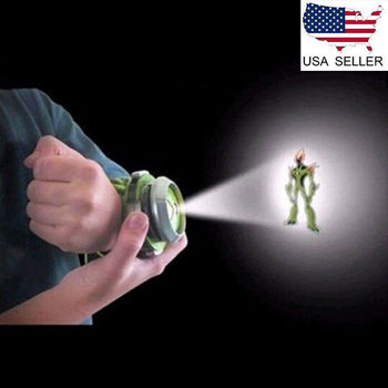 ben10 ten alien force projector watch ultimate omnitrix bracelet anti stress toy wristwatch Kids Watch Projector Omnitrix Alien Viewer W/ 3 Disks 30 Images