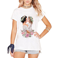 Super Mom Print White Tshirt Streetwear Harajuku Mama Baby T-shirts For Women Mom And Daughter T Shirt Femme O-neck Vogue top