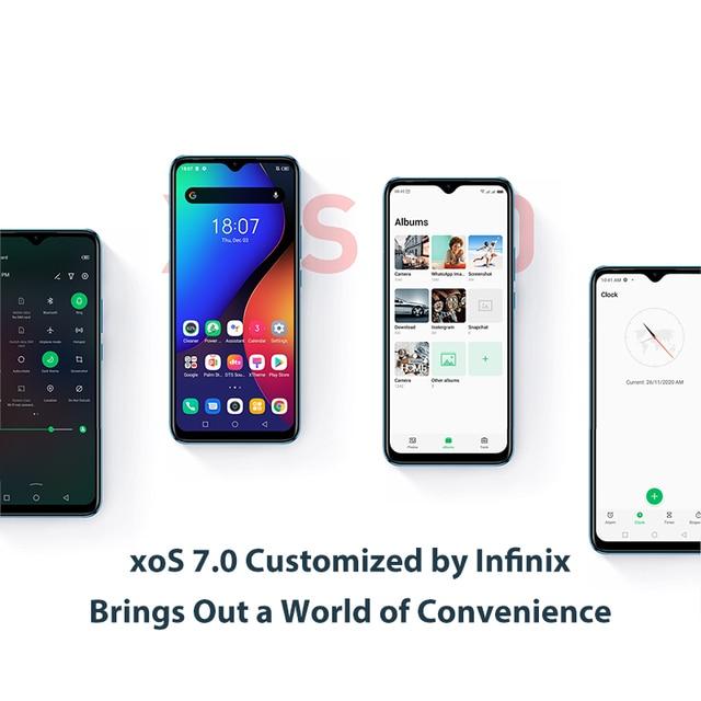Infinix HOT 10 PLAY  2GB+32GB /4GB+64GB Global Version smart phone 6.82'' HD+ Display 6000mAh  Helio G35 mobile Phone 3