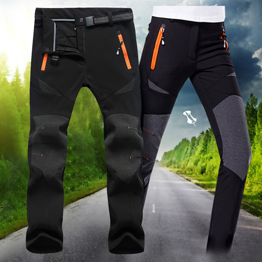 Women Outdoor Hiking Climbing Sports Ski Pants Waterproof Warm Fleece Lined Quick Dry Winter Softshell Windproof Snow Insulated