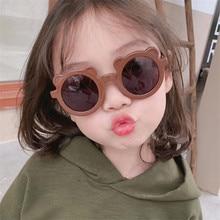 Bear Sunglasses Eyewear Oculos-De-Sol UV400 Girls Kids Round Gafas Baby Boys Child Cute