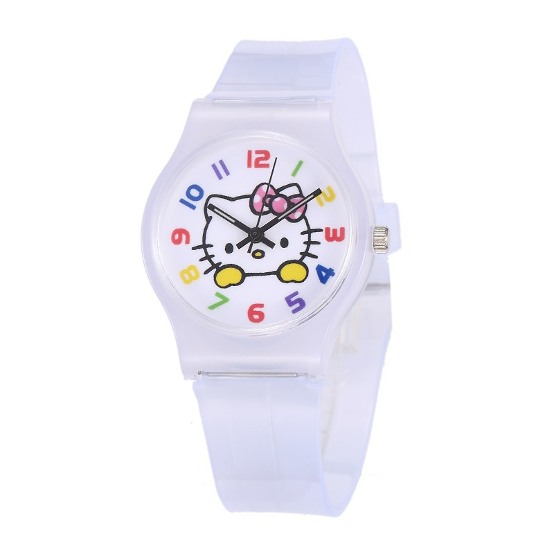 Kids Cute Cartoon Silicone Strap Watches Enfant Girls Clock Hello Kitty Women Children Boy Baby Watch Saats Relogio Infantil