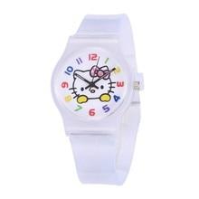 Kids Cute Cartoon Silicone Strap Watches Enfant Girls Clock Hello kitty Women Ch