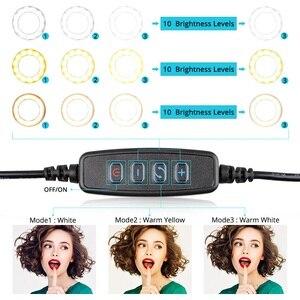 Image 3 - Samtian lampada anello di 12 pollici anello di luce con il treppiedi HA CONDOTTO LA luce USB plug bluetooth selfie anello per youtube di trucco LED foto di anello di luce