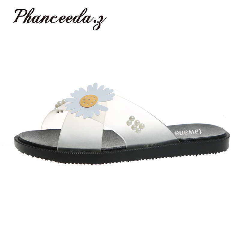 New 2020 Casual Shoes Women Sandals Sandalias Mujer Summer Style Fashion Flip Flops Quality Flats Solid Woman Slippers Size 4