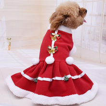 New Hot Christmas Pet Dog Dress New Arrival Solid Color Coat Sweatshirt Vest Pets Cat Warm Puggy Coat Costumes Fast Shipping(China)