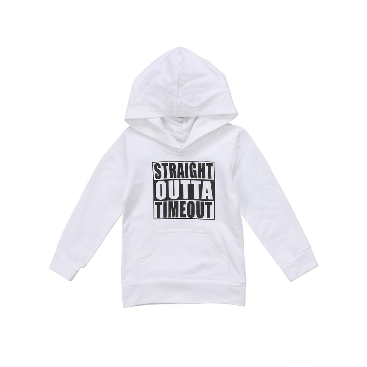 Pudcoco US Stock Newborn KIds Baby Boy Girl Clothes Hoodie Tops Hooded Sweatshirt Casual Outdoor Sport 8