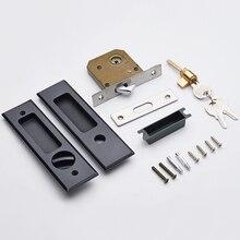 Замок раздвижной двери с ключами, невидимый замок для ворот, набор с ручкой, встроенный замок, крюк для шкафа, тянет мебельное оборудование