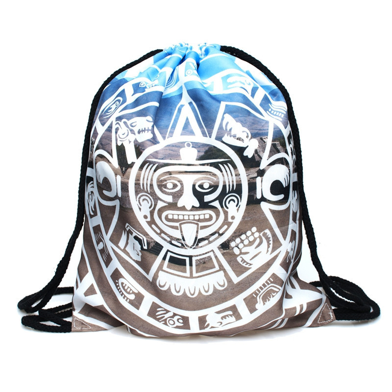 Letter  Backpack Drawstring BAGS Drawstring Fashion 3D Printing Softback Men Bags Unisex Women's Shoulder Bag Knapsack Tie New