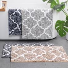 Alfombras de baño marroquíes antideslizantes microfibra suave absorbente alfombras de baño alfombras de ducha 45x65 cm/50 café gris marino x 80 cm/45x120 cm