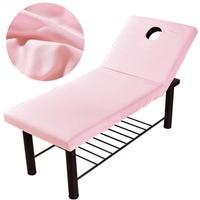 Professionelle Kosmetik salon blätter SPA massage behandlung bett tisch abdeckung blätter mit loch 6 Farben zu Wählen-in Tagesdecke aus Heim und Garten bei