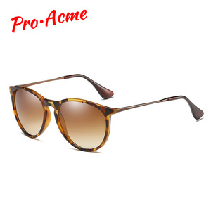 Image 1 - Pro Acme Vintage Cat Eye Polarized Sunglasses Women 2020 Tortoise Brown Retro Round Mirrored Lens gafas de sol mujer PA1266