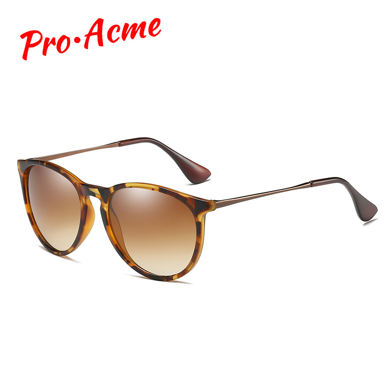 Pro Acme Vintage Cat Eye Polarized Sunglasses For Women Tortoise Brown Retro Round Mirrored Lens Sun Glasses Female 2020 PA1266