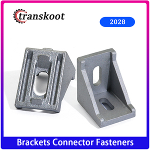 50pcs CNC DIY ACCESSORIES 2028 Corner Angle L Brackets Connector Fasten Fitting Long Hole for Aluminum Profile 2020 20x20